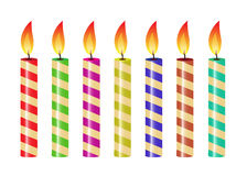 Striped candles Royalty Free Stock Photos
