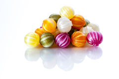 Striped Candy. Mixed colored and striped candy Royalty Free Stock Photo