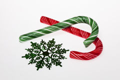 Striped candy canes Royalty Free Stock Image