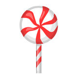 Striped candy isolated illustration Royalty Free Stock Images