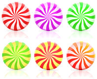 Striped candy.  lollipop Royalty Free Stock Image