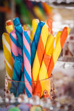 Striped Candy Sticks Stock Images