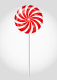 Striped candy vector illustration Royalty Free Stock Photos