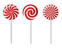 Striped candy vector illustration Royalty Free Stock Images