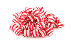 Striped candy on white Stock Photo