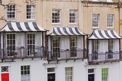 Striped Canopies Royalty Free Stock Image