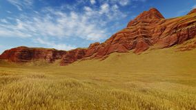 Striped canyon rocks at daytime Stock Image