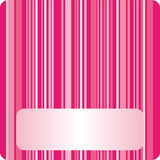 Striped card. Colorful striped background. Vector illustration Royalty Free Stock Images