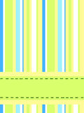 Striped card. A postcard made of stripes with place for text Royalty Free Stock Images