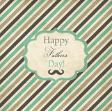 Striped card for Fathers Day royalty free illustration