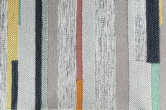 Striped carpet as background, top view. Interior element stock photo