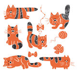 Striped cats Royalty Free Stock Image