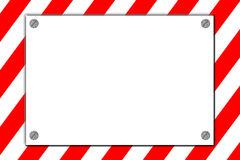 Striped caution danger sign Stock Image