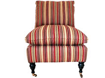 Striped chair isolated Royalty Free Stock Photography