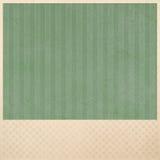 Позеленейте striped предпосылку на бежевом checkered плане предпосылки картины Стоковая Фотография