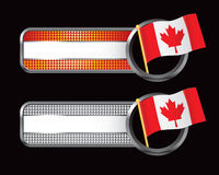 Striped checkered banners with canadian flags Royalty Free Stock Photos