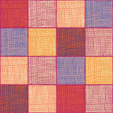 Striped and checkered colorful seamless background Royalty Free Stock Photo