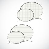 Striped and checkered speech bubbles. Eps 10 Royalty Free Stock Photo