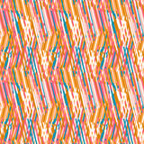 Striped chevron vintage pattern Stock Image