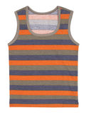 Striped children tank top. Isolated on white Royalty Free Stock Photography