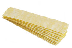 Striped chips. Potato striped chips  texture of close up Stock Photo