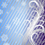 Striped christmas background (vector) Royalty Free Stock Images