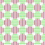 Christmas Balls seamless texture background. Striped Christmas ball pattern with vertical and horizontal stripes. Seamless texture background Royalty Free Stock Photography