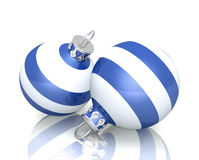 Striped Christmas baubles Royalty Free Stock Photos