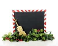Striped Christmas Frame Royalty Free Stock Photo