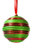 Striped Christmas Ornament #1 Royalty Free Stock Photo