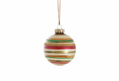 Striped Christmas Ornament stock photo