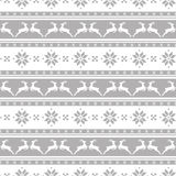 Striped christmas pattern with deers. Vector seamless background Royalty Free Stock Images