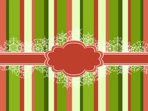 Striped Christmas vector frame Royalty Free Stock Image