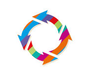 Striped circle arrows Royalty Free Stock Images