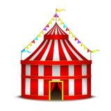 Striped Circus Tent Symbol Amusement, Festival or Carnival. Vector. Striped Circus Tent Symbol Amusement, Festival or Carnival for Invitation Premiere Stock Images