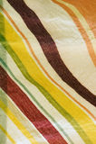 Striped cloth. Closed ups of the striped cloth Stock Images