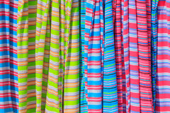 Striped cloth close to each other Stock Images