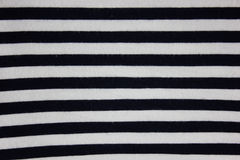 Striped cloth texture details view. Stock Photo