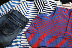 Striped clothes Stock Image