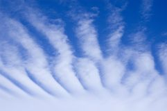 Striped clouds Royalty Free Stock Photo