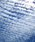 Striped Clouds Stock Image