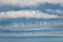 Striped clouds. Royalty Free Stock Images