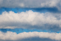 Striped clouds. Royalty Free Stock Image