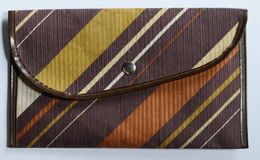 Striped clutch Royalty Free Stock Images