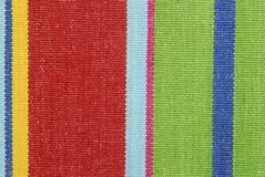 Striped color fabric texture Stock Photography