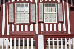 Striped colored houses, Costa Nova, Beira Litoral, Portugal, Eur Royalty Free Stock Images