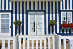 Striped colored houses, Costa Nova, Beira Litoral, Portugal, Eur Royalty Free Stock Photography