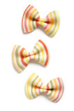 Striped Colorful Farfalle or Bowtie Pasta Stock Photo