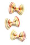 Striped Colorful Farfalle or Bowtie Pasta Stock Photo