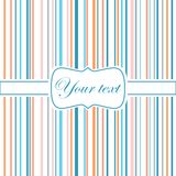 Striped colorful greeting card. Striped colorful greeting invitation card Royalty Free Stock Image